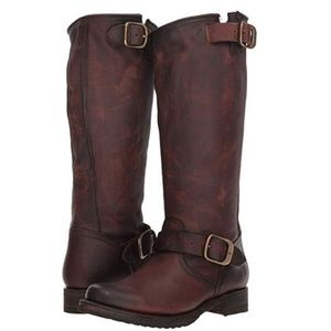 Frye Veronica slouch tall brown riding boots